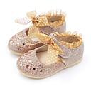 baratos Sapatos de Bebês-Para Meninas Sapatos Courino Primavera Conforto / Sapatos para Daminhas de Honra Rasos Laço / Lantejoulas / Velcro para Dourado /