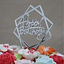 זול אספקה למסיבות-קישוטים לעוגה יומהולדת אקרילי Euramerican פלסטי יום הולדת עם 1 OPP