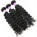 baratos Extensões de Cabelo com Cor Natural-3 pacotes Cabelo Malaio Onda Profunda Cabelo Virgem Cabelo Humano Ondulado Tramas de cabelo humano Extensões de cabelo humano