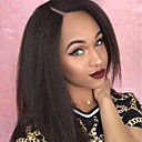 cheap Hair Pieces-Human Hair Unprocessed Human Hair Lace Front Wig style Brazilian Hair Straight Yaki Wig 130% Density 8-30 inch with Baby Hair Unprocessed Glueless Women's Long Human Hair Lace Wig