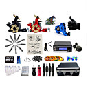 halpa Wii U -tarvikkeet-BaseKey Tattoo Machine Professional Tattoo Kit - 3 pcs Tattoo Machines, Ammattilais LED virtalähde Sisältää kotelon 1 x pyörivä