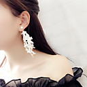 cheap Earrings-Women's Tassel Long Drop Earrings - Tassel, Korean, Fashion White / Black For Party Daily
