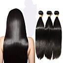 billige Væg Lamper-6 Bundler Peruviansk hår Lige Remy hår Menneskehår, Bølget Menneskehår Vævninger Menneskehår Extensions Dame / Ret