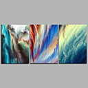 cheap Abstract Paintings-Print Stretched Canvas - Abstract Modern Three Panels