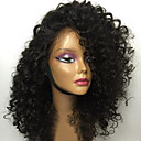cheap Synthetic Capless Wigs-Human Hair Glueless Lace Front / Lace Front Wig Brazilian Hair Kinky Curly Wig Bob Haircut / Layered Haircut / With Bangs 130% With Baby Hair / Natural Hairline / Unprocessed Women's Medium Length