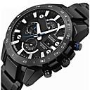 cheap Men's Rings-Men's Sport Watch Military Watch Wrist Watch Quartz Alarm Calendar / date / day Chronograph Stainless Steel Band Analog-Digital Vintage Casual Fashion Black / Silver - Silver Silver / Black Black