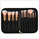 preiswerte Make-up-Pinsel-Sets-12st Makeup Bürsten Professional Make - Up Pinselset Künstliches Haar vollständige Bedeckung Holz