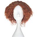 halpa Synteettiset peruukit ilmanmyssyä-Synteettiset peruukit Kinky Curly Tyyli Suojuksettomat Peruukki Punainen Oranssi Synteettiset hiukset Miesten Punainen Peruukki Lyhyt miss u hair Cosplay-peruukki