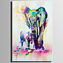 tanie Obrazy: motyw ludzi-Hang-Malowane obraz olejny Ręcznie malowane - Zwierzęta Rustykalny / Nowoczesny Brezentowy / Rozciągnięte płótno