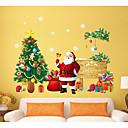baratos Decoração Natalina-Autocolantes de Parede Decorativos - Autocolantes 3D para Parede Natal / Feriado Sala de Estar / Sala de Jantar / Lojas / Cafés