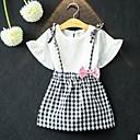 זול סטים של ביגוד לבנות-סט של בגדים כותנה אביב קיץ שרוולים קצרים אחיד בנות חמוד לבן