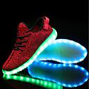 povoljno LED Cipele-Muškarci Udobne cipele Pletivo Spring, Fall, Winter, Summer Atletičarke tenisice Crn / Sive boje / Crvena / EU40