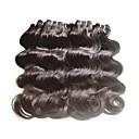 tanie Dopinki w naturalnych kolorach-Remy Włosy brazylijskie Człowieka splotów włosów Przedłużanie włosów 8 szt Czarny