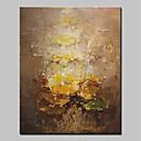 tanie Obrazy: abstrakcja-Hang-Malowane obraz olejny Ręcznie malowane - Abstrakcja Prosty / Nowoczesny Płótno / Rozciągnięte płótno
