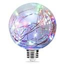 povoljno LED žarulje s nitima-1pc 3W 250 lm E27 LED filament žarulje G95 33 LED diode Integrirani LED zvjezdani Više boja Ružičasto Plavo 85-265V