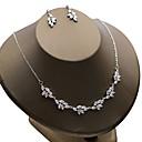 Χαμηλού Κόστους Σετ Κοσμημάτων-Γυναικεία Cubic Zirconia Κοσμήματα Σετ - Ζιρκονίτης Λουλούδι Περιλαμβάνω Λευκό Για Γάμου Πάρτι