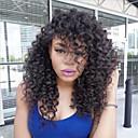cheap Human Hair Wigs-Human Hair Glueless Full Lace / Full Lace Wig Brazilian Hair Kinky Curly Wig Bob Haircut / Layered Haircut / With Baby Hair 150% Natural Hairline / 100% Virgin / Unprocessed Women's Medium Length