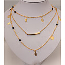 cheap Necklaces-Women's Layered Necklace - Gold Necklace Jewelry For Party, Daily