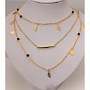 זול שרשרת אופנתית-בגדי ריקוד נשים שרשראות Layered - זהב שרשראות תכשיטים עבור Party, יומי