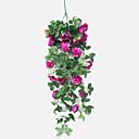olcso Mesterséges növények-Művirágok 1 Ág Európai stílus / Rusztikus Stílus Rózsák kosár virágot