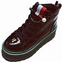 זול מגפי נשים-בגדי ריקוד נשים נעליים PU חורף נוחות / קאובוי / מגפיים מערביים / מגפיי קרב מגפיים בוהן עגולה מגפונים\מגף קרסול שחור