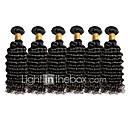 olcso Természetes színű póthajak-6 csomag Brazil haj Mély hullám Remy haj Az emberi haj sző Emberi haj sző Human Hair Extensions Női