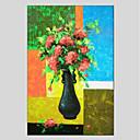 tanie Pejzaże-Hang-Malowane obraz olejny Ręcznie malowane - Kwiatowy / Roślinny Nowoczesny Brezentowy