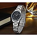 baratos Relógios da Moda-WWOOR Mulheres Relógio de Pulso Calendário / Legal Aço Inoxidável Banda Casual / Fashion