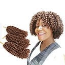 cheap Hair Braids-mali bob ombre kanekalon crochet braiding hair 3pc set jamaican bounce crochet hair 8inch havana mambo kinky twist wavy hair extension for braids