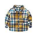 ieftine Set Îmbrăcăminte Băieți Bebeluși-Copil Băieți Manșon Lung Bumbac Cămașă Galben 100