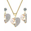 abordables Juego de Joyas-Mujer Conjunto de joyas - Perla Corazón Dulce, Elegante Incluir Dorado Para Cumpleaños Diario / Pendientes / Collare
