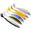 baratos Iscas de Pesca-6 pcs Iscas / Ferramentas de pesca Isco Suave / Amostras moles / Shad Plástico Pesca de Mar / Isco de Arremesso / Pesca de Isco