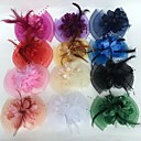 cheap Party Headpieces-Feather / Net Fascinators / Flowers with 1 Wedding / Party / Evening Headpiece