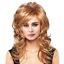preiswerte Synthetische Perücken ohne Kappe-Menschliches Haar Capless Perücken Echthaar Große Wellen Seitenteil Lang Maschinell gefertigt Perücke Damen