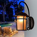 זול פמוטי קיר-סגנון חלוד / בקתה מנורות קיר זכוכית אור קיר 220V / E27