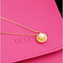 olcso Divat nyaklánc-Női Gyöngy Nyaklánc medálok - Gyöngyutánzat, Kagyló Arany, Ezüst Nyakláncok Kompatibilitás Napi, Hétköznapi