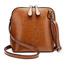 cheap Totes-Women's Bags Cowhide Crossbody Bag Zipper Black / Blushing Pink / Brown