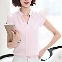 ieftine Office Basics-Pentru femei În V Bluză Ieșire Bumbac Mată