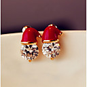 cheap Earrings-Women's Stud Earrings - Red For Christmas Daily