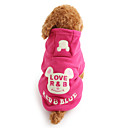 cheap Dog Clothes-Dog Hoodie Dog Clothes Cartoon Black Rose Polar Fleece Costume For Pets Men's Women's Cute Keep Warm