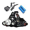 cheap Flashlights & Camping Lanterns-LS052 Headlamps / Bike Lights LED 3000lm 4 Mode with Batteries and Chargers Impact Resistant / Rechargeable / Waterproof Camping / Hiking