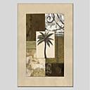 tanie Pejzaże-Hang-Malowane obraz olejny Ręcznie malowane - Kwiatowy / Roślinny Nowoczesny Brezentowy / Rozciągnięte płótno