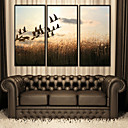 cheap Prints-Landscape Animals Illustration Wall Art,PVC Material With Frame For Home Decoration Frame Art Living Room Bedroom Kitchen Dining Room