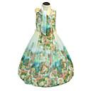 זול שמלות לבנות-שמלה כותנה פוליאסטר ללא שרוולים ליציאה חגים פרחוני פרח הילדה של חמוד יום יומי נסיכות בוהו תלתן
