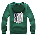 cheap Nintendo Switch Accessories-Inspired by Attack on Titan Eren Jager / Mikasa Ackermann / levi ackerman Anime Cosplay Costumes Cosplay Hoodies Print Long Sleeve Coat For Girls' Halloween Costumes