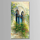 cheap Oil Paintings-Oil Painting Hand Painted - Floral / Botanical Modern Stretched Canvas