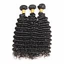 tanie Peruki z włosów ludzkich-3 zestawy Włosy indyjskie Deep Wave Włosy naturalne remy Fale w naturalnym kolorze Ludzkie włosy wyplata Ludzkich włosów rozszerzeniach