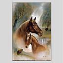 tanie Obrazy: motyw zwierzęcy-Hang-Malowane obraz olejny Ręcznie malowane - Zwierzęta Zwierzęta Brezentowy / Rozciągnięte płótno