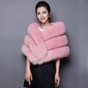 cheap Wedding Wraps-Sleeveless Faux Fur / Organic Cotton Wedding / Party / Evening Women's Wrap With Ponchos