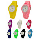 billige Trendy klokker-Armbåndsur Quartz Hverdagsklokke Silikon Band Analog Sjarm Fritid Svart / Hvit / Blå - Grønn Rosa Lyseblå